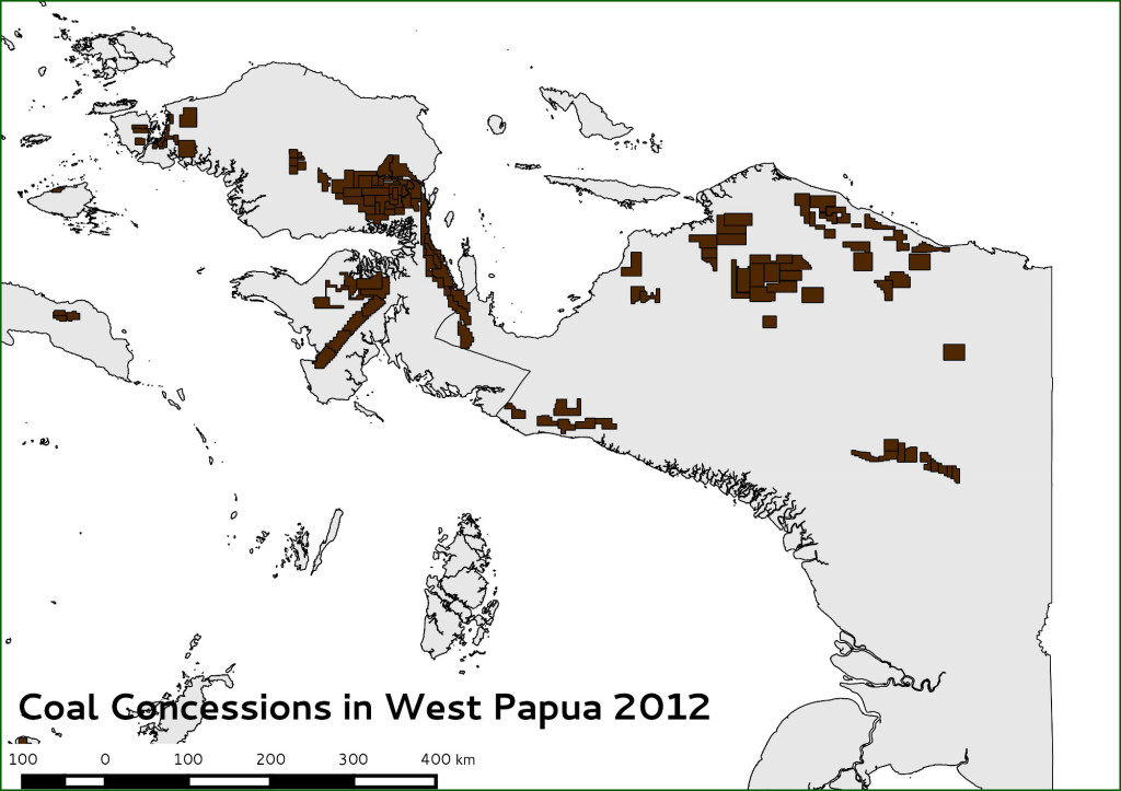 coal concessions in West Papua 2012