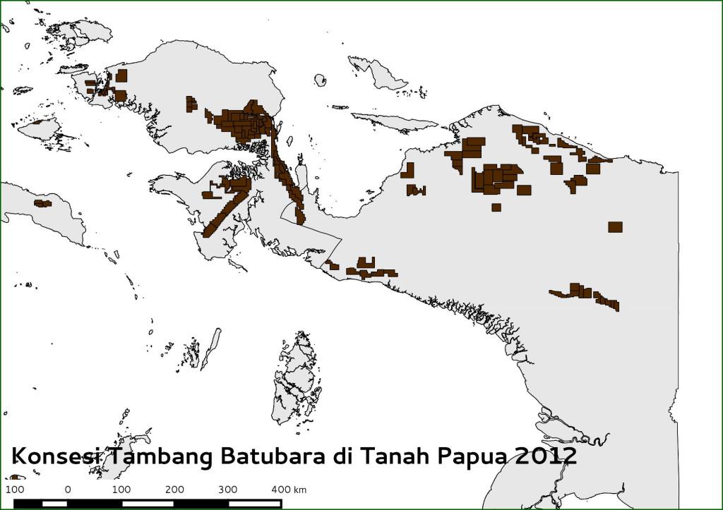 konsesi batubara di tanah papua 2012